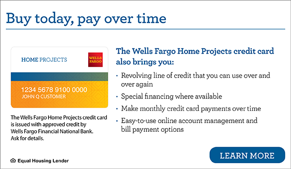 Buy today, pay over time. Wells Fargo.